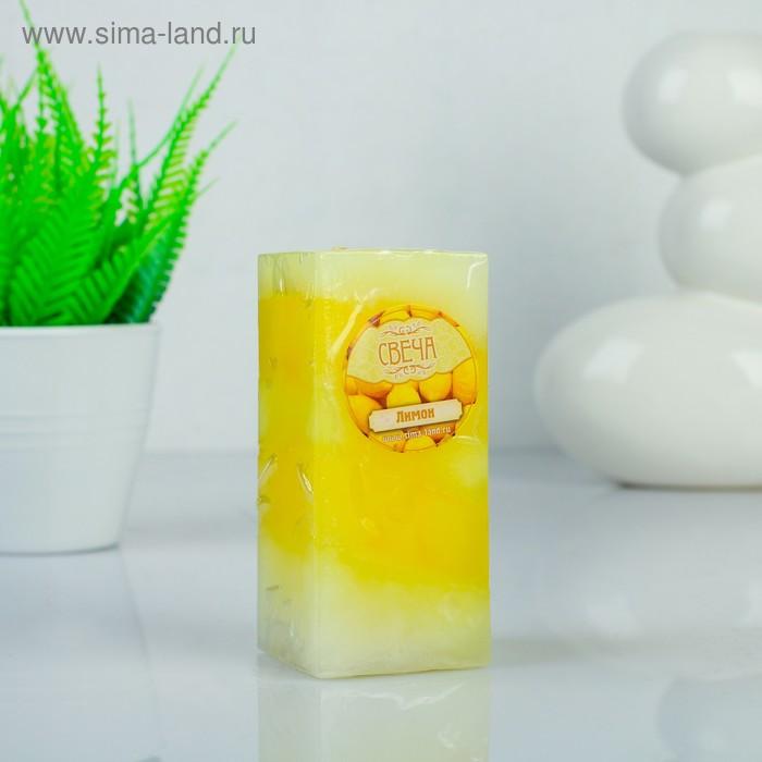 """Свеча восковая """"Полоска"""", аромат лимон"""