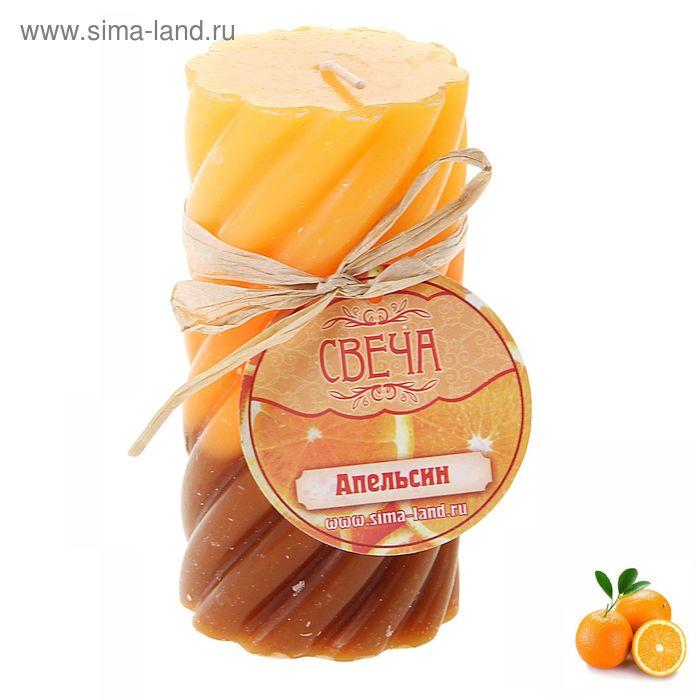 """Свеча восковая """"Волна"""", аромат апельсин"""