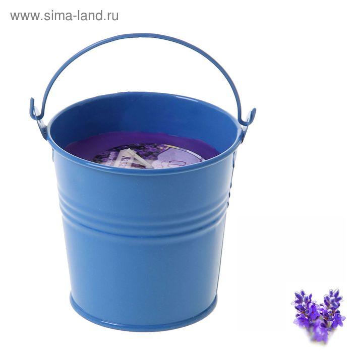 """Свеча восковая """"Ведёрко"""", аромат лаванда"""