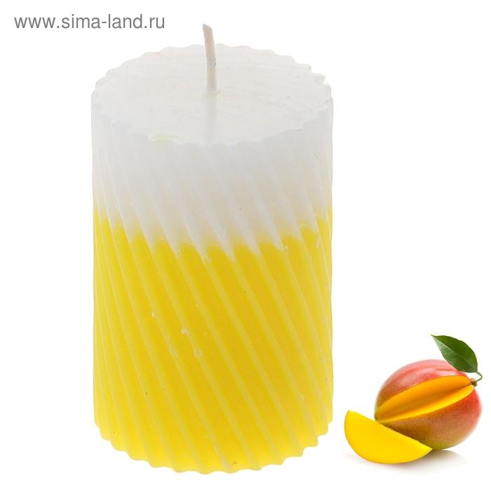 """Свеча восковая """"Спираль"""", аромат манго"""