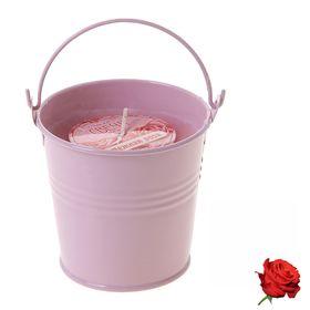 """Свеча восковая """"Ведёрко"""", аромат роза"""