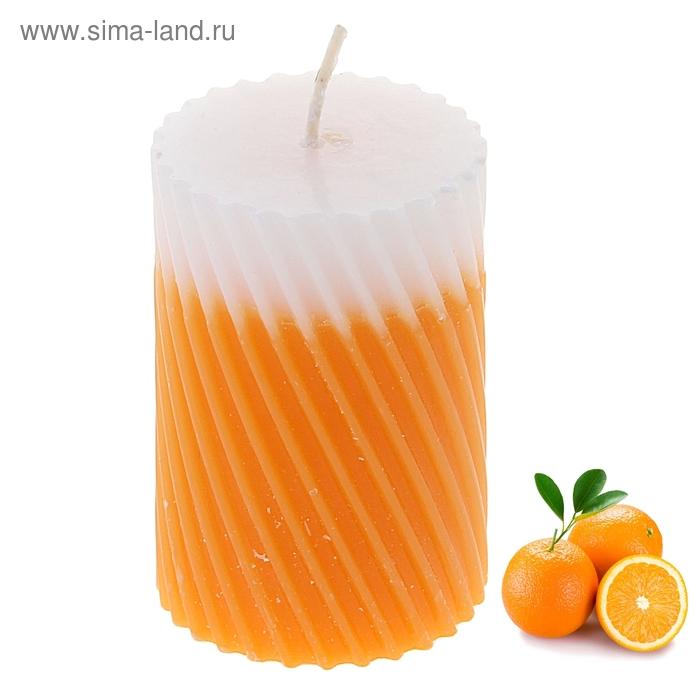 """Свеча восковая """"Спираль"""", аромат апельсин"""
