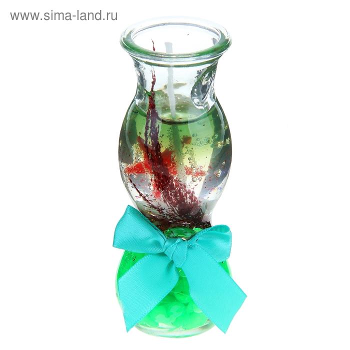 """Свеча гелевая """"Океан"""", цвет салатовый"""