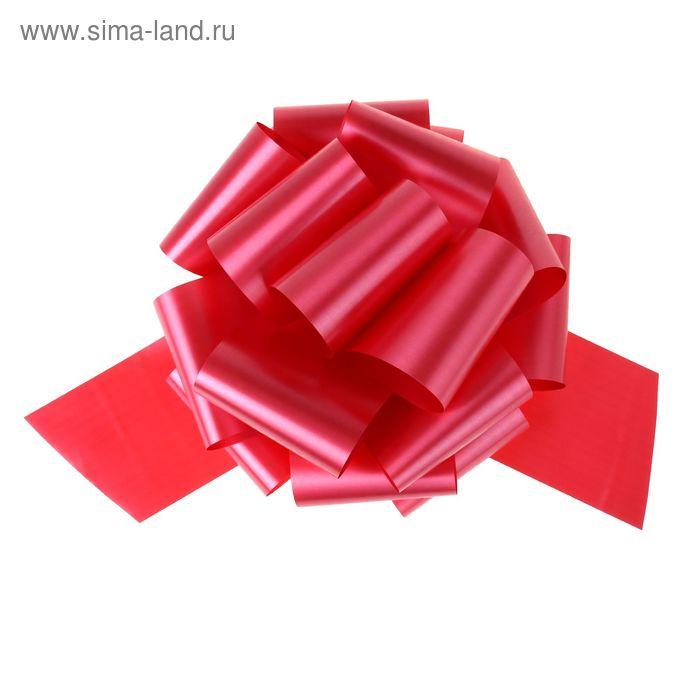"Бант-шар №12 ""Глянец"", цвет красный"