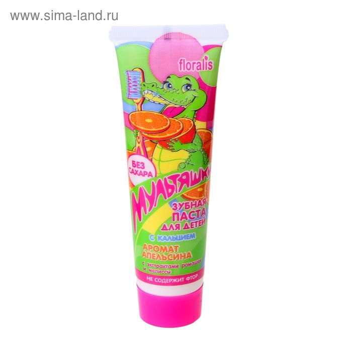 Зубная паста для детей с кальцием Аромат апельсина 60г
