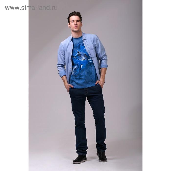 Футболка мужская Collorista 3D Skate, размер XXL (52), цвет синий