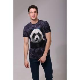 Футболка мужская Collorista 3D Panda, размер S (44), цвет чёрный