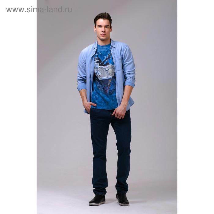 Футболка мужская Collorista 3D Force, размер S (44), цвет синий