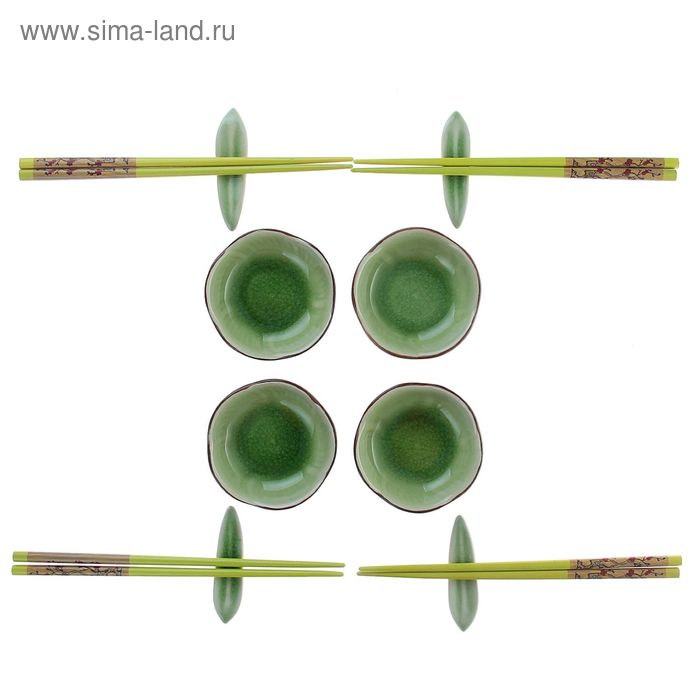 """Набор для суши 12 предметов """"Зеленая поляна"""""""