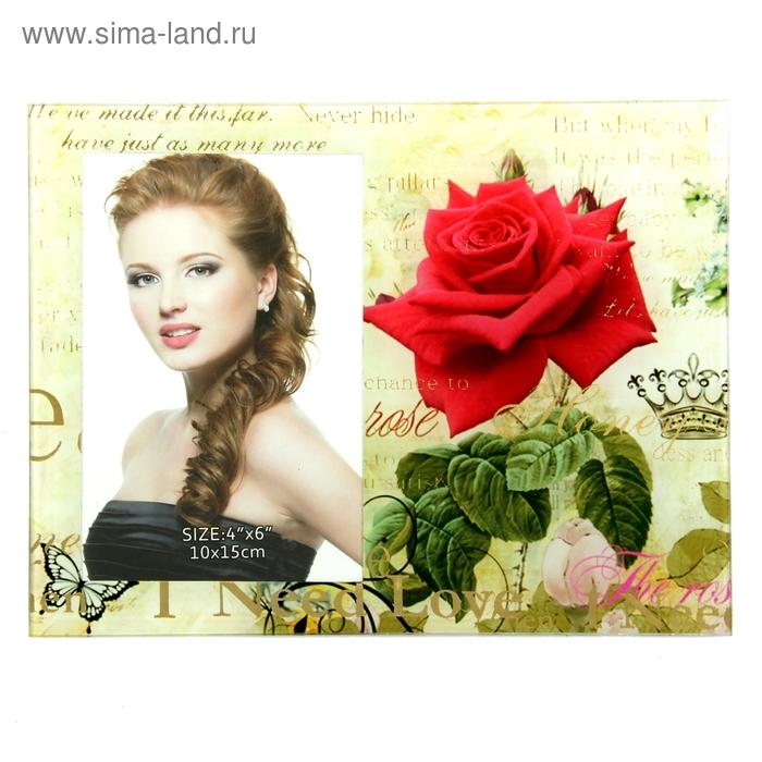 "Фоторамка ""Алая роза"" 10х15 см"