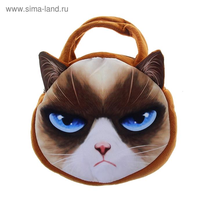 """Мягкая сумочка """"Киса"""" с голубыми глазами"""