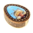 Шкатулка «Золотые купола», яйцо, большая, 9х12х4 см, береста