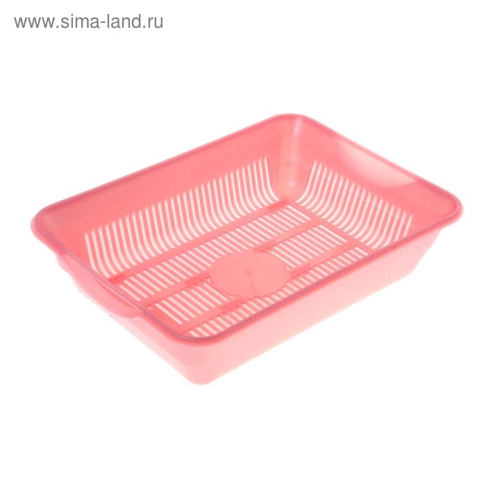 Туалет с сеткой, 35,5х26х9 см, перламутровый, розовый