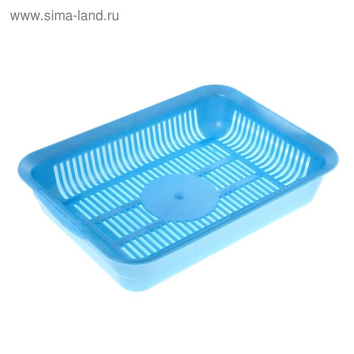 Туалет с сеткой, 34,5х25,5х7,5 см, перламутровый, голубой
