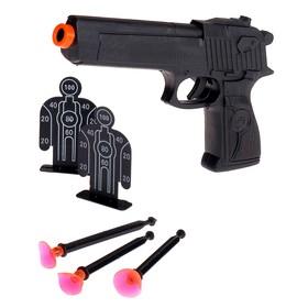 """Пистолет """"Спецназ"""", с мишенями, стреляет присосками"""