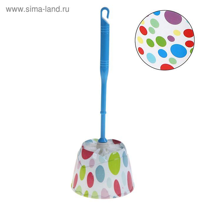 """Ершик для унитаза с подставкой, 35 см """"Цветные шары"""