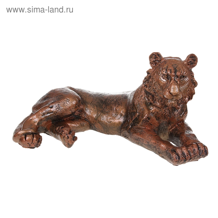 "Статуэтка ""Тигр"" лежа, медь"