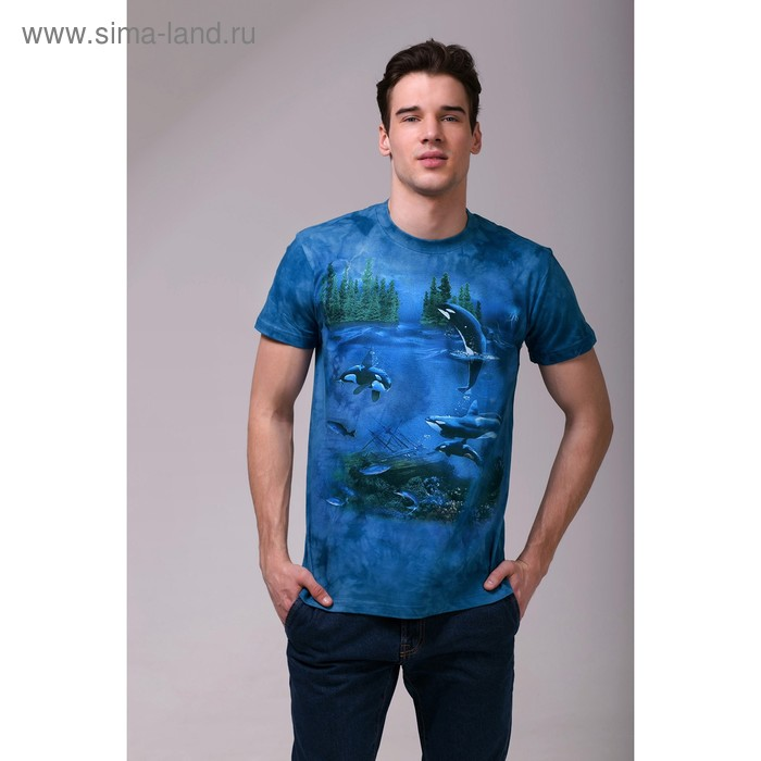 Футболка мужская Collorista 3D Ocean, размер M (46), цвет синий