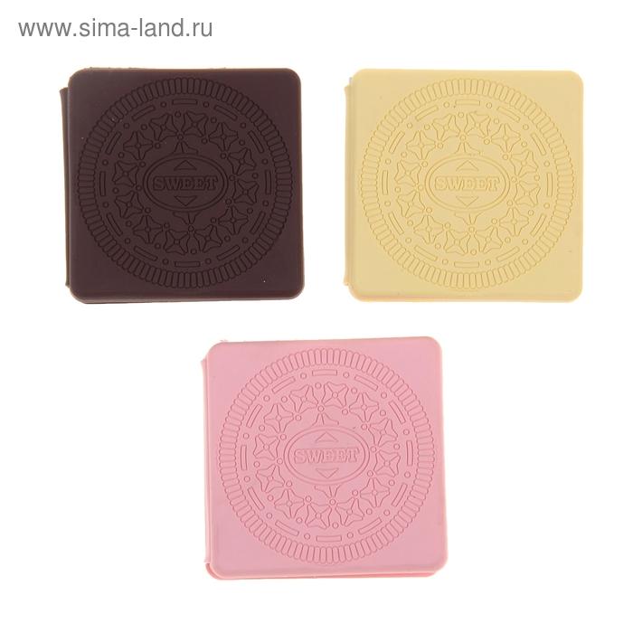 Блокнот А7 100л белые обл резиновая с ароматом ванили МИКС Печенье