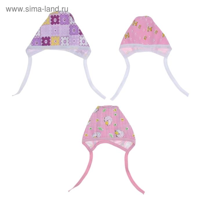 Чепчик для девочки, размер 36, цвет МИКС