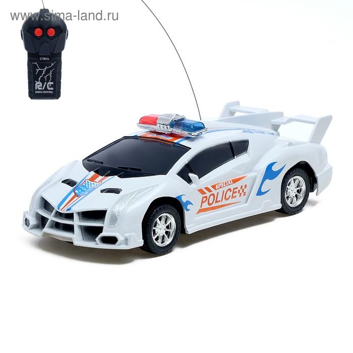 """Машина радиоуправляемая """"Полиция"""", работает от батареек"""