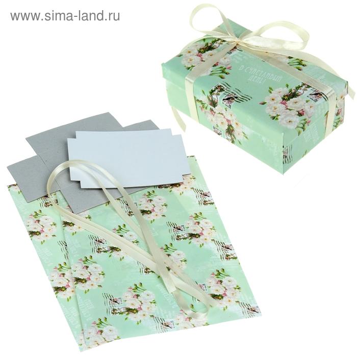 """Набор для декорирования подарочной коробки """"Нежные цветы"""", 21 х29,8 см"""