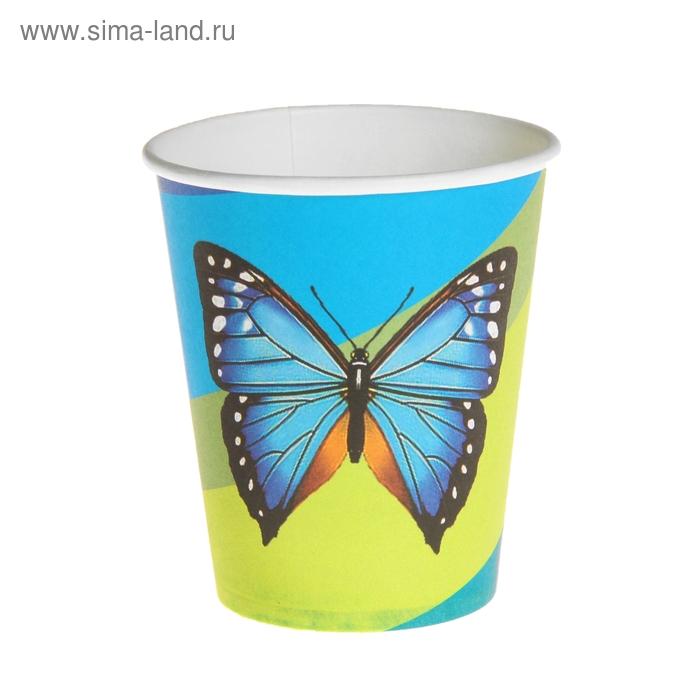 "Набор бумажных стаканов ""Бабочка"" (6 шт), 220 мл"