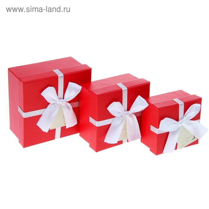 """Набор коробок 3в1 """"Настроение"""", цвет красный"""