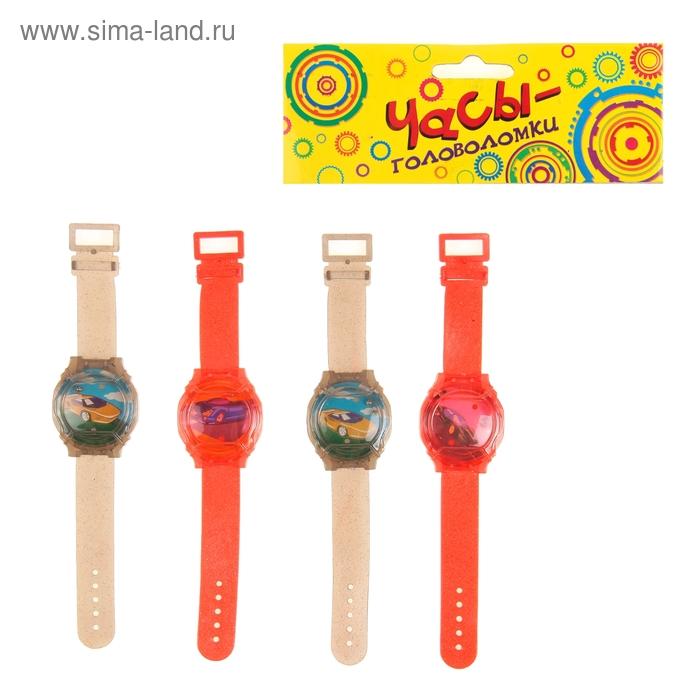 """Головоломка """"Часы"""", набор 4 шт., цвета МИКС"""