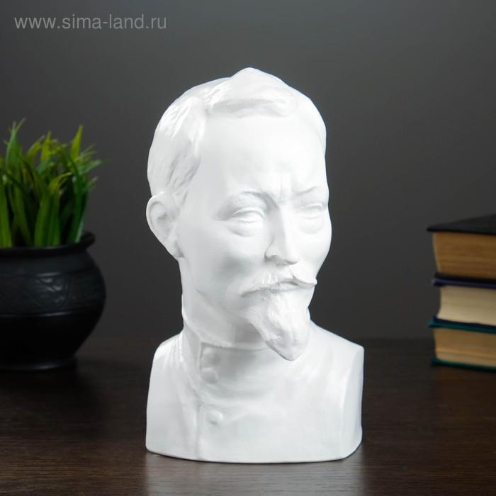 """Статуэтка """"Бюст Дзержинского"""" большая, белая"""