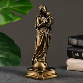 "Статуэтка ""Дева Мария"" с младенцем, малая, золото"
