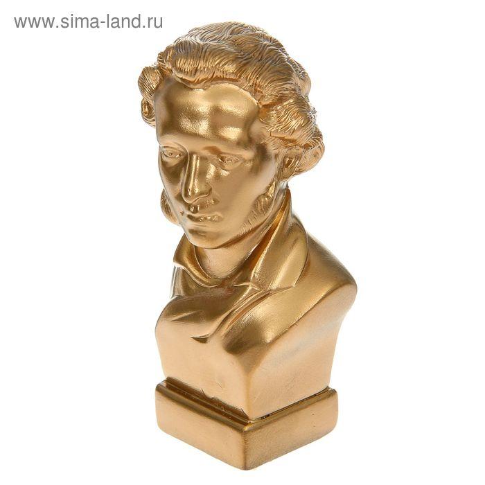 "Статуэтка ""Бюст Пушкина"" малая, золото"
