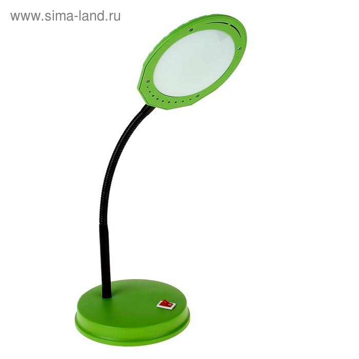 Лампа настольная LED10*5 Вт, с выкл. зеленая, h=30 см, пластик