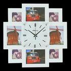 """Часы настенные """"Мегаполис"""", белые + 8 фоторамок: 9 × 13 см и 10 × 10 см"""