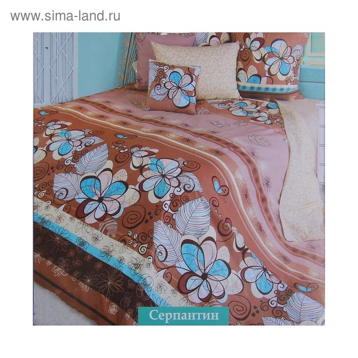 "Постельное бельё ROKO ""Серпантин"" 1,5 сп., размер 147х217 см, 150х215 см, 70х70 см - 2 шт., цвет коричневый"