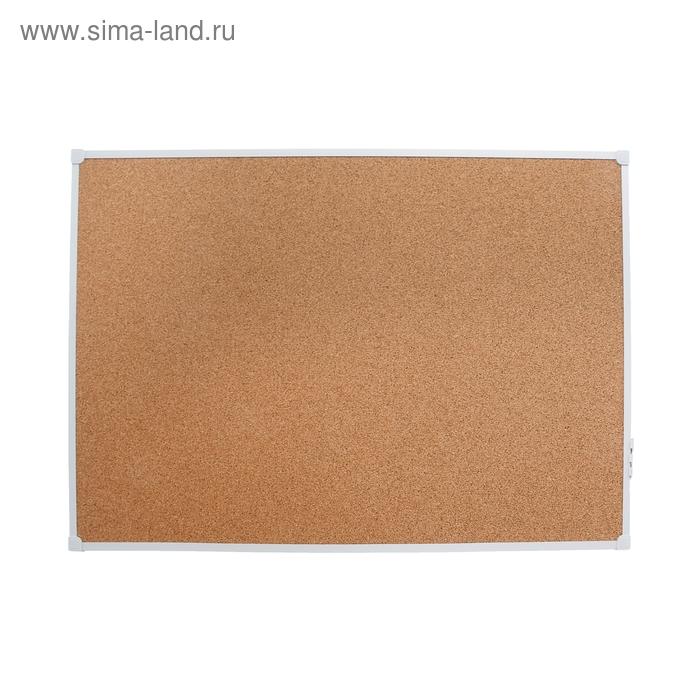 Доска с пробковым покрытием 60х90см, в алюминиевом профиле, серия LINE