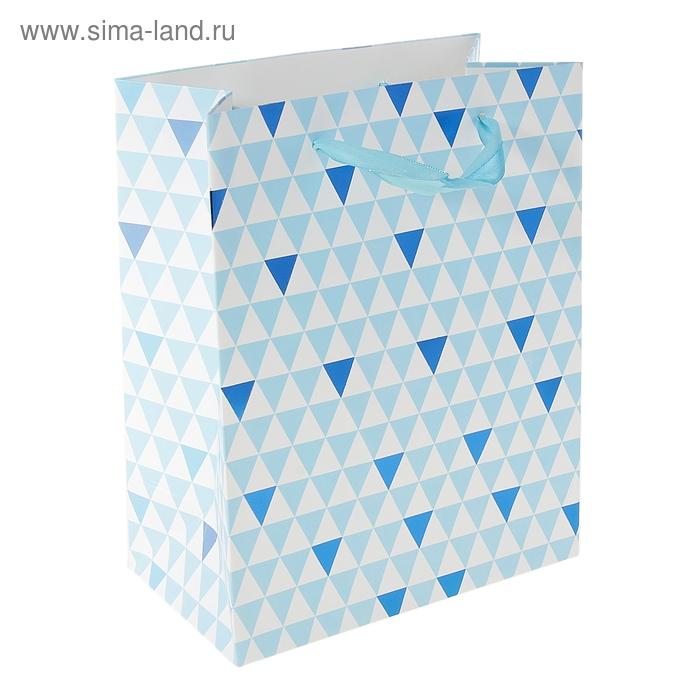 """Пакет ламинированный """"Треугольники в сетке"""""""