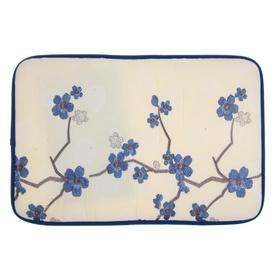 """Коврик для ванной """"Сакура"""", цвет голубой"""