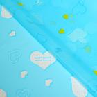 """Плёнка для цветов и подарков """"Сердечки"""", голубой, 60 х 60 см"""