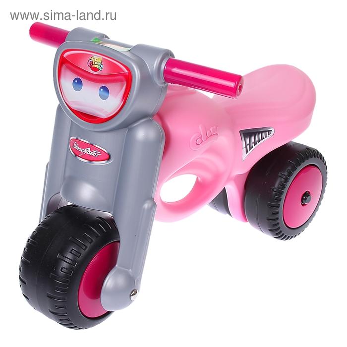"""Каталка-мотоцикл """"Мини-мото"""", розовая 48233"""