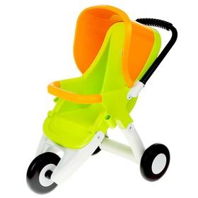 Прогулочная коляска для кукол, 3-х колёсная, цвета МИКС