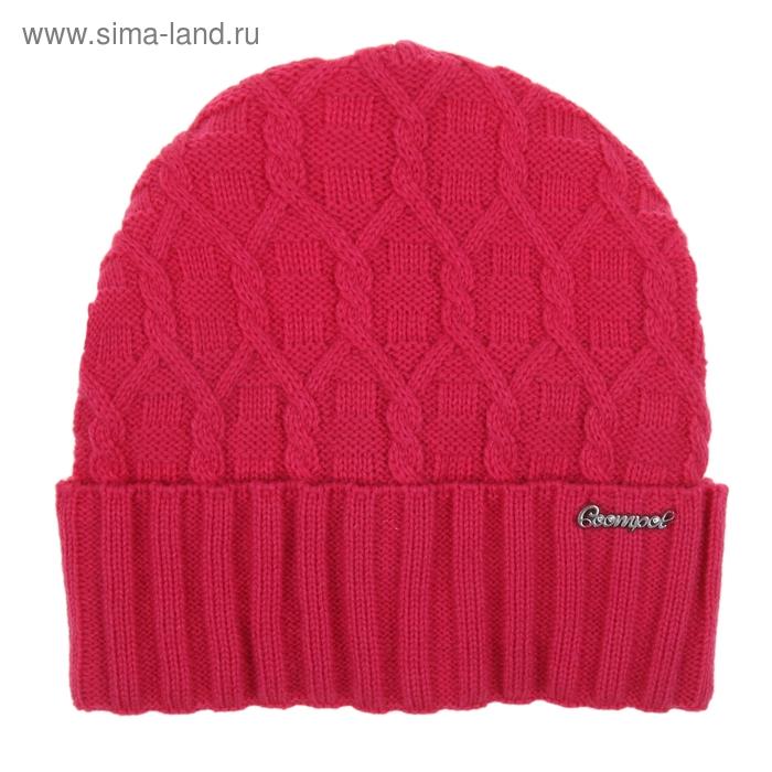 Шапка женская 419-092  ДАНА  демисезонная, р-р 56, цвет розовый