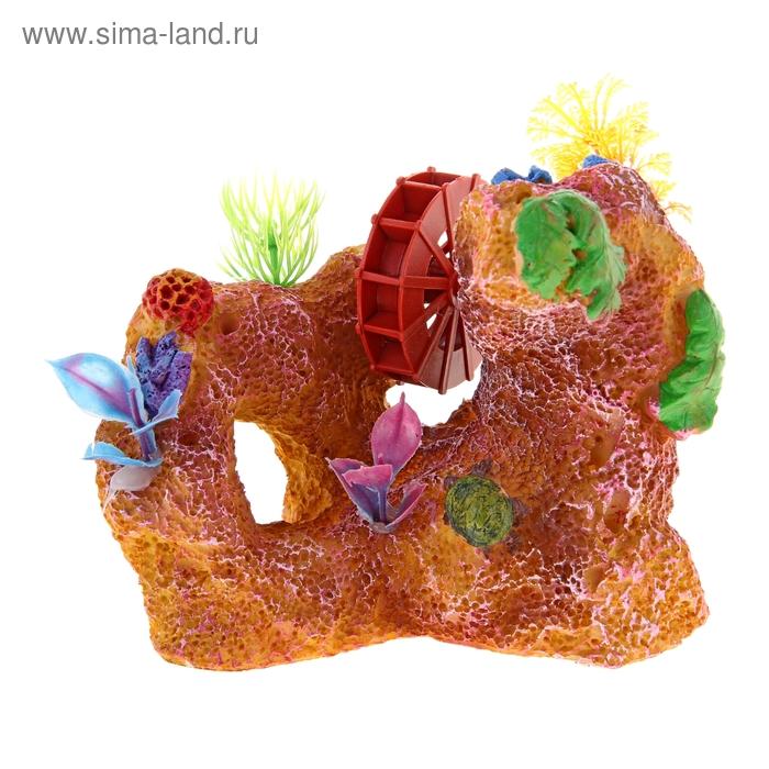 Декоративная композиция для аквариума с распылителем, 16 х 10 х 15 см
