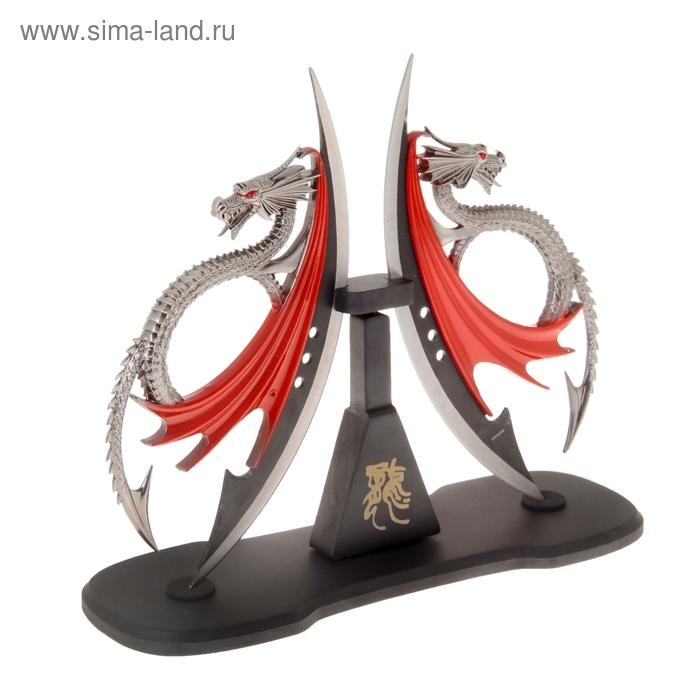 Кинжал сувенирный на подставке, Драконы