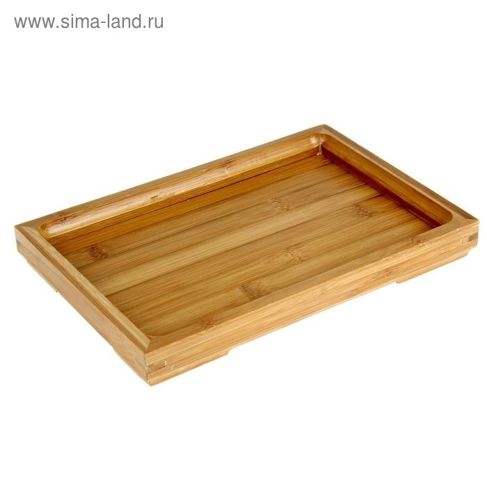 Поднос бамбук, 28*19*3 см