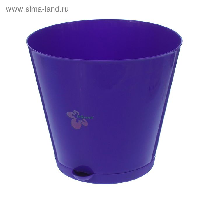 """Горшок для цветов 5 л """"Крит"""" с прикорневым поливом d=22,6 cм, цвет фиолетовый"""