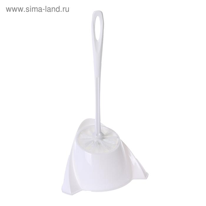 "Ерш для унитаза с подставкой ""WC Компакт"", цвет белый"