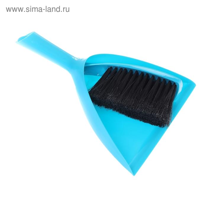 Набор для уборки Original, 2 предмета: щетка-сметка, совок, цвет бирюзовый