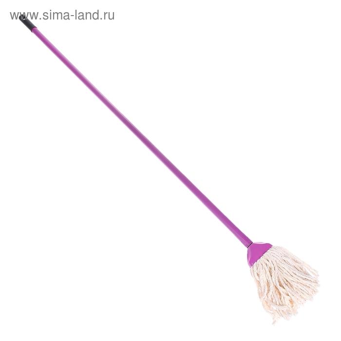 Швабра МОП с черенком 110 см, цвет аметист