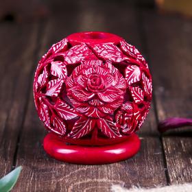 """Подсвечник-шар """"Каменный цветок"""", резной"""